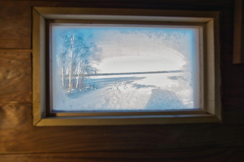 Saunakärryn ikkuna, polykarbonaattilevy